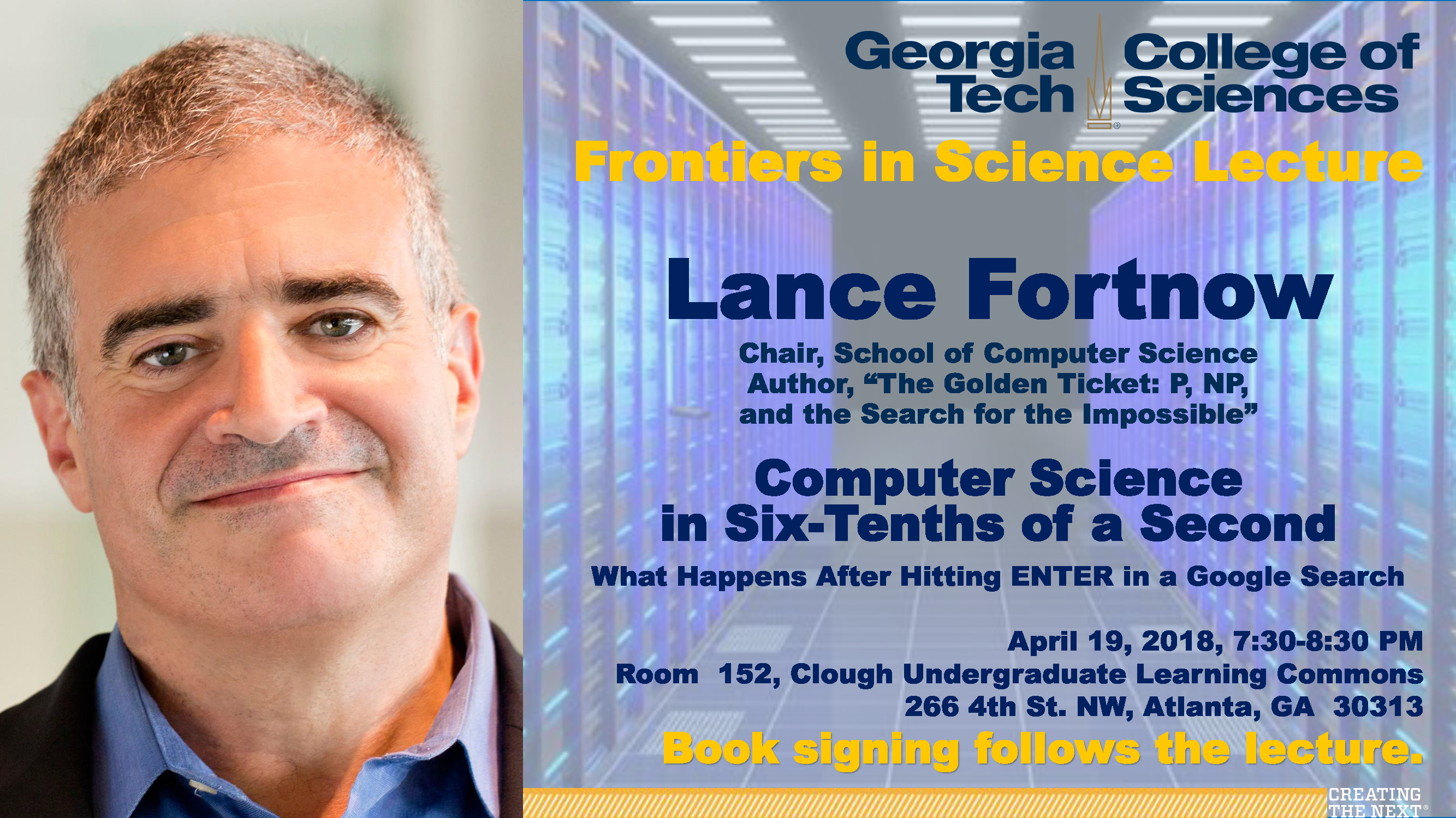 Lance Fortnow, Frontiers in Science Lecture