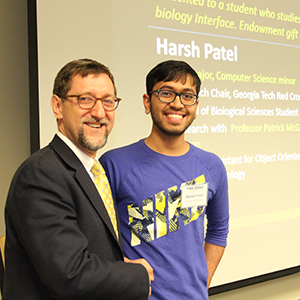 Harsh Patel with Dean Goldbart (Photo by Renay San Miguel)