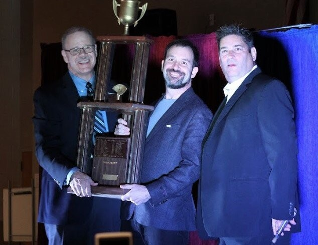 (Left to right) Mike Dunagan, president of the Georgia Magic Club, Matt Baker, and Merritt Ambrose, president of the Atlanta Society of Magicians (Photo: Atlanta Society of Magicians)