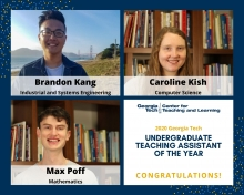 2020 Undergraduate TAs of the Year