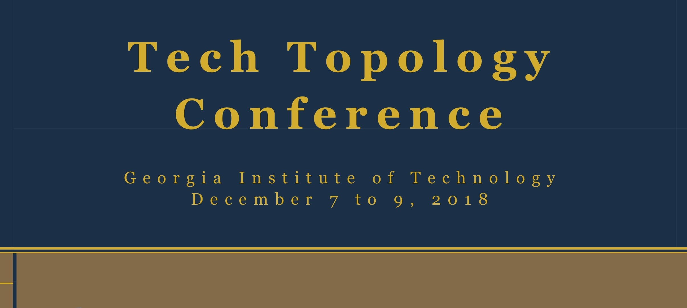 Tech Topology Conference - cover